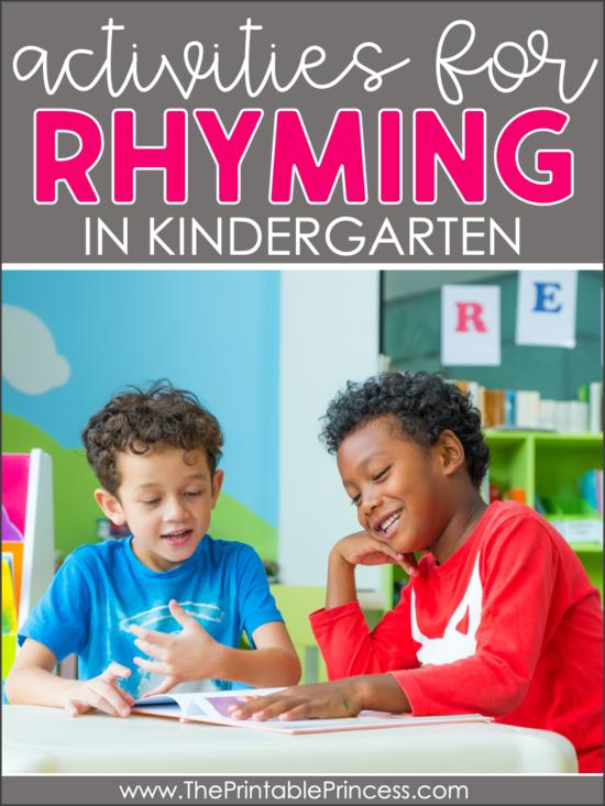10 rhyming activities for kindergarten