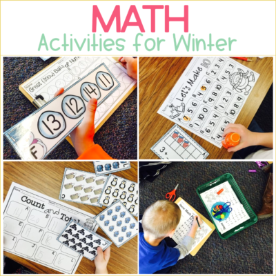 Winter Math Centers for Kindergarten {with FREEBIE}