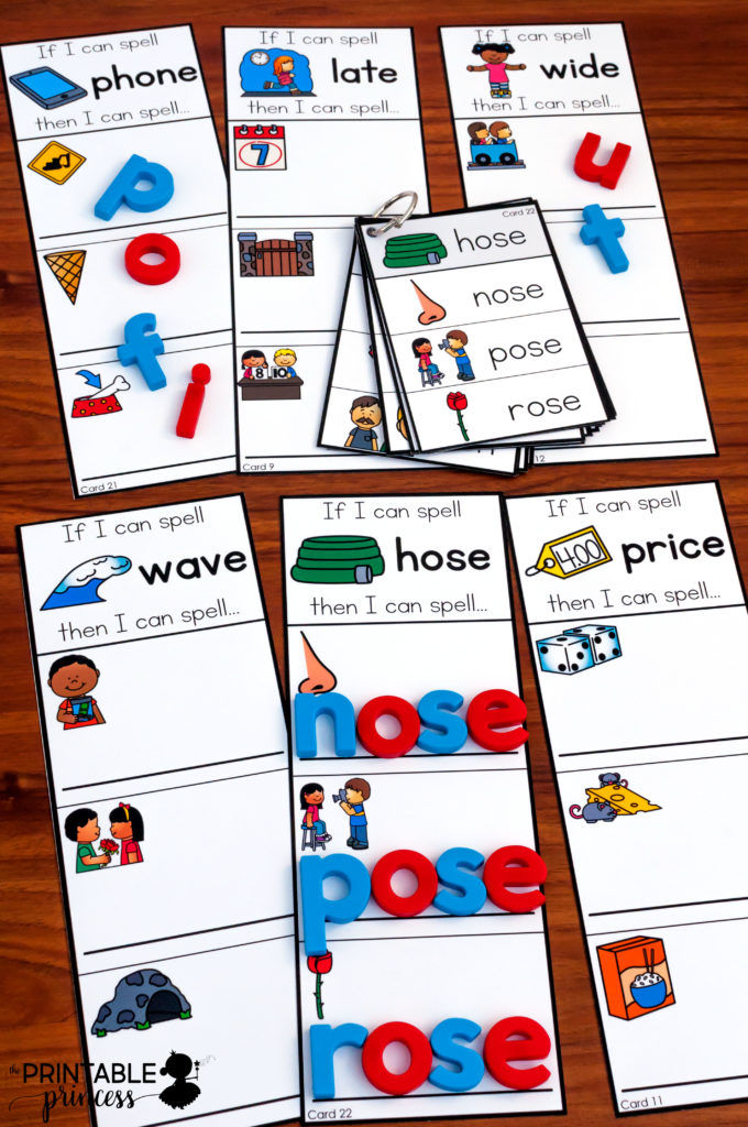 "CVC Practice for Kindergarten! Teach students to spell words by changing just the first letter. Perfect for word work! Can be completed using magnetic letters, play dough, or dry erase markers. Includes ""I Can"" visual directions and several recording sheet options."