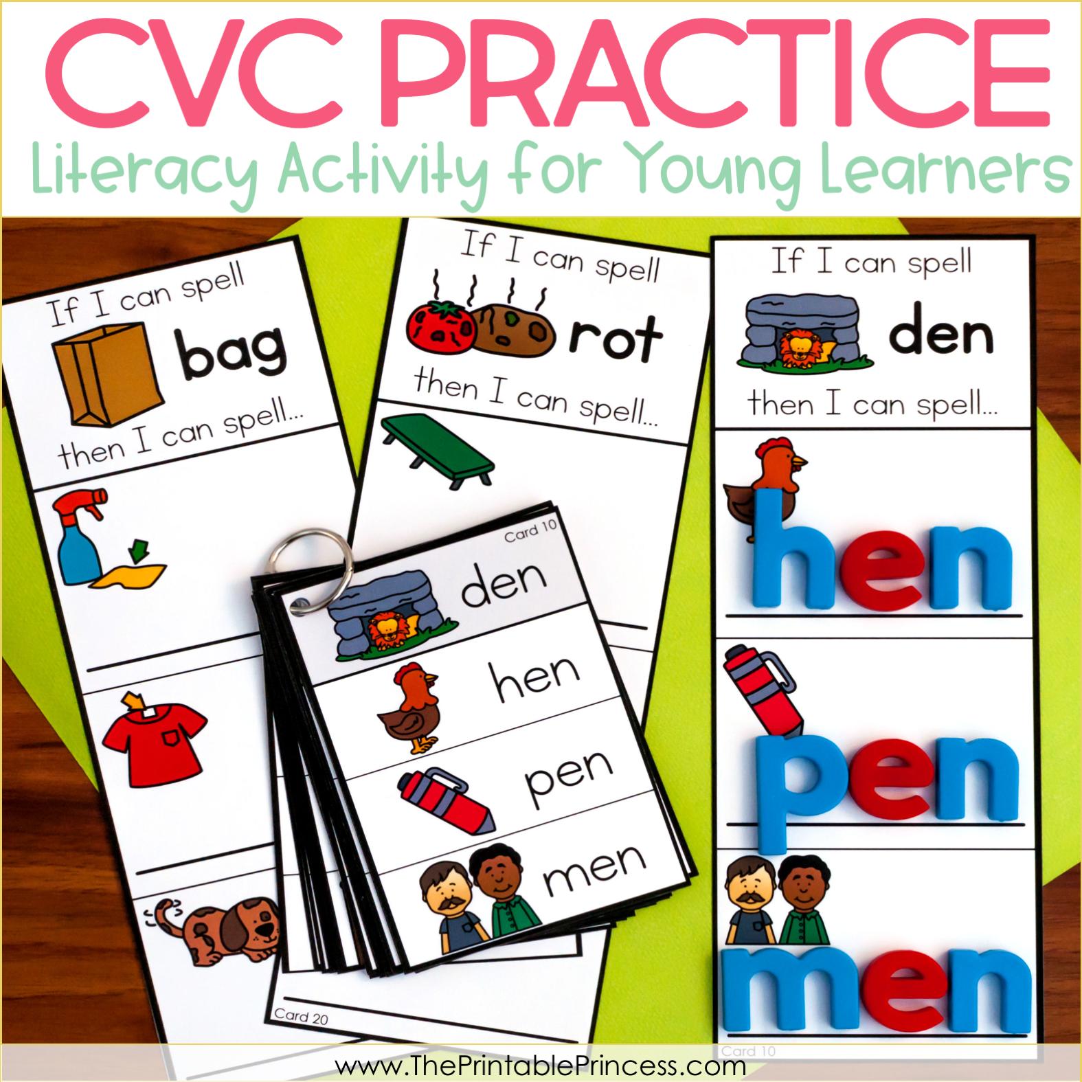If I Can Spell…CVC Practice for Kindergarten