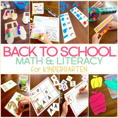 FUN Back to School Games for Kindergarten