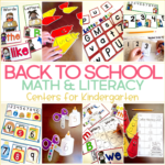 Kindergarten Back to School Centers and a FREEBIE!