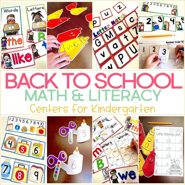 Kindergarten Back to School Centers