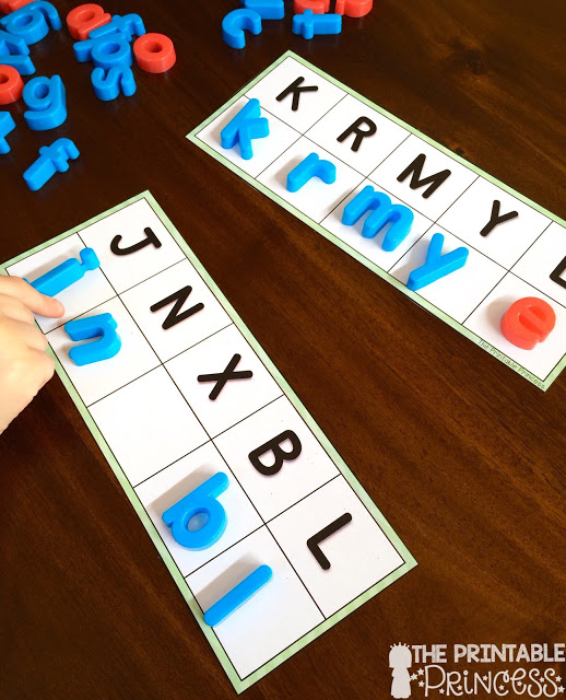 This post has some great ideas for back to school games for Kindergarten! Click through to learn about counting, puzzles, name practice, uppercase and lowercase letters, colors, and more! These puzzles can be used ANY time of year, and they even work for your preschool and 1st grade students.