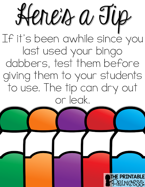 You might call them bingo dobbers, daubers, bingo markers, or dot paints. Regardless, this post is going to give you great tips for using bingo dabbers in the classroom! You'll find ideas, resources, and a FREE download to use with your classroom or homeschool students. Teachers of preschool, Kindergarten, 1st, and 2nd grade students will enjoy the tips, ideas, and teaching strategies included here. These tips are especially great for the back to school or beginning of year season!