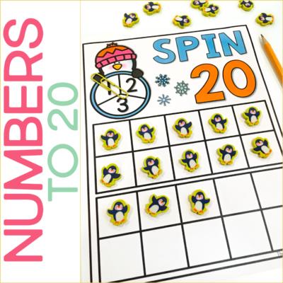 Numbers to 20 Freebie! {Winter Math Fun!}