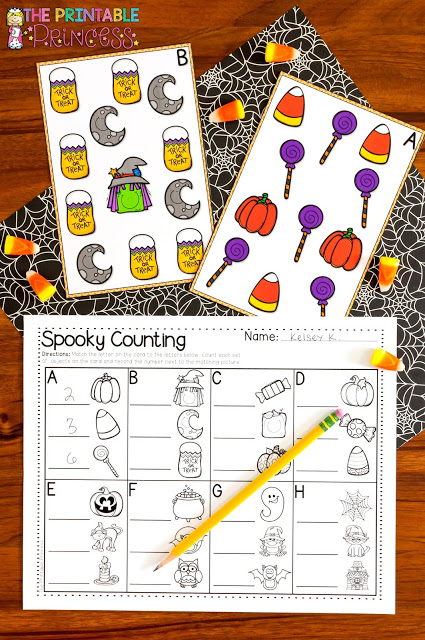 photograph regarding Letter Sound Games Printable named Halloween Things to do for Kindergarten with FREEBIES! The