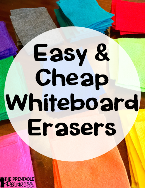 Is your classroom constantly out of erasers? This post will help you learn how you can easily DIY cheap and easy erasers for whiteboards! All you need are a few materials, a little time spent cutting, and you'll be set to go in no time. Click through to see how you could use this for your preschool, Kindergarten, 1st, 2nd, 3rd, 4th, 5th, or 6th grade classroom. (Make sure to check the tip out on how the erasers can even be used to pick partners!)