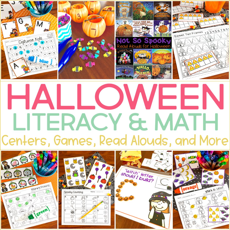 Halloween Activities for Kindergarten {with FREEBIES!}