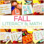 No Prep Fall Activities for Kindergarten {And Games TOO!}