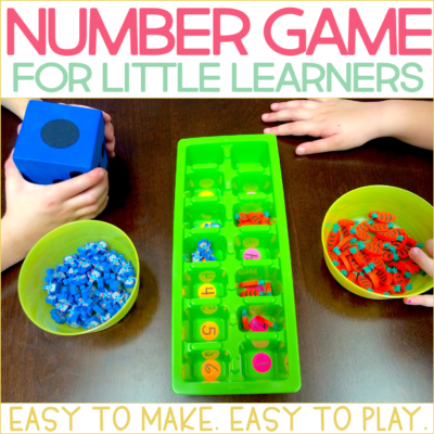 Easy Number Game for Kindergarten