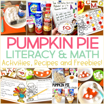 Kindergarten Thanksgiving Activities: Words, Counting, & Pie in a Cup!