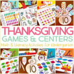 Thanksgiving Games and Centers for Kindergarten