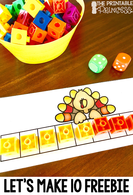 Fall is a great time of year in the primary classroom! Click through to see the great math and literacy centers you can use with your preschool, Kindergarten, or 1st grade students! This post has a particular emphasis on Thanksgiving games and centers for Kindergarten. Click through to see the FREE downloads, and also check out the many skills covered - beginning sounds, making 10, one less, shapes, counting, 1:1 correspondence, ending sounds, CVC words, and more! Great for October or November!