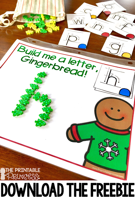 Your students are going to love the gingerbread activities for Kindergarten included at this blog post! Great ideas you can use all December long are included! Click through to see the great FREE downloads, book ideas, and activities! You'll find ideas for lowercase letters, short word families, counting, numbers to 20, center activities, great resources, and MORE! Your Kinder classroom and homeschool students will have a great time with the freebies!