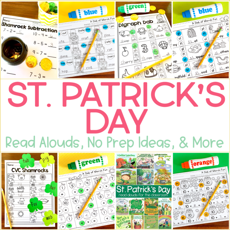 Read Alouds, No Prep Activities, and Freebies for March