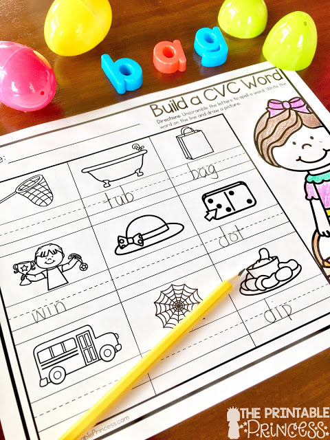 Turn those left over plastic Easter eggs into meaningful and engaging literacy activities for your Kindergarten classroom. There's DIY activities plus FREE recording sheets. Practice CVC words, word families, real and nonsense words, rhyming words, onset and rime, sight words, and more! The activities work great for independent centers or small group instruction. Your Kindergarteners will have so much fun that they won't realize they are learning.