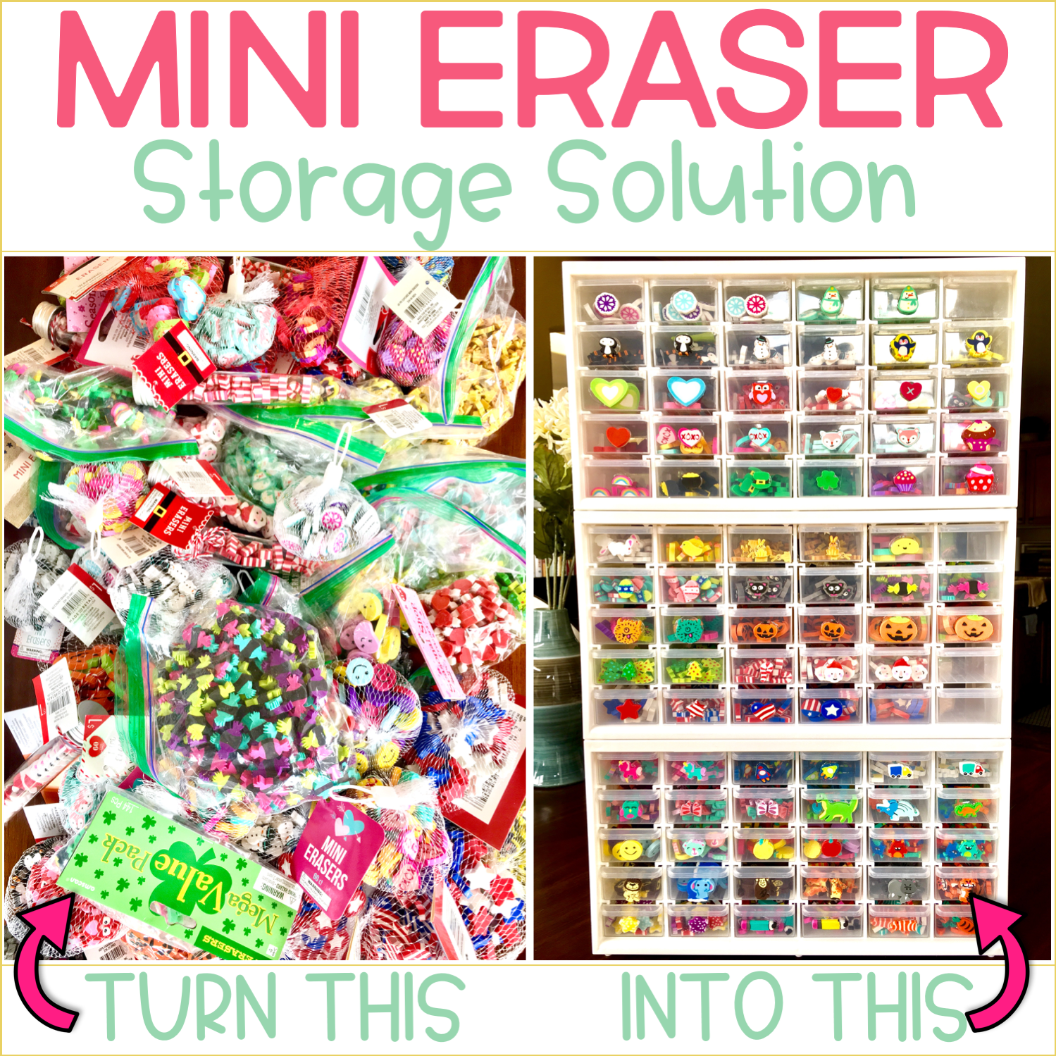 Mini Eraser Storage Solution for the Classroom