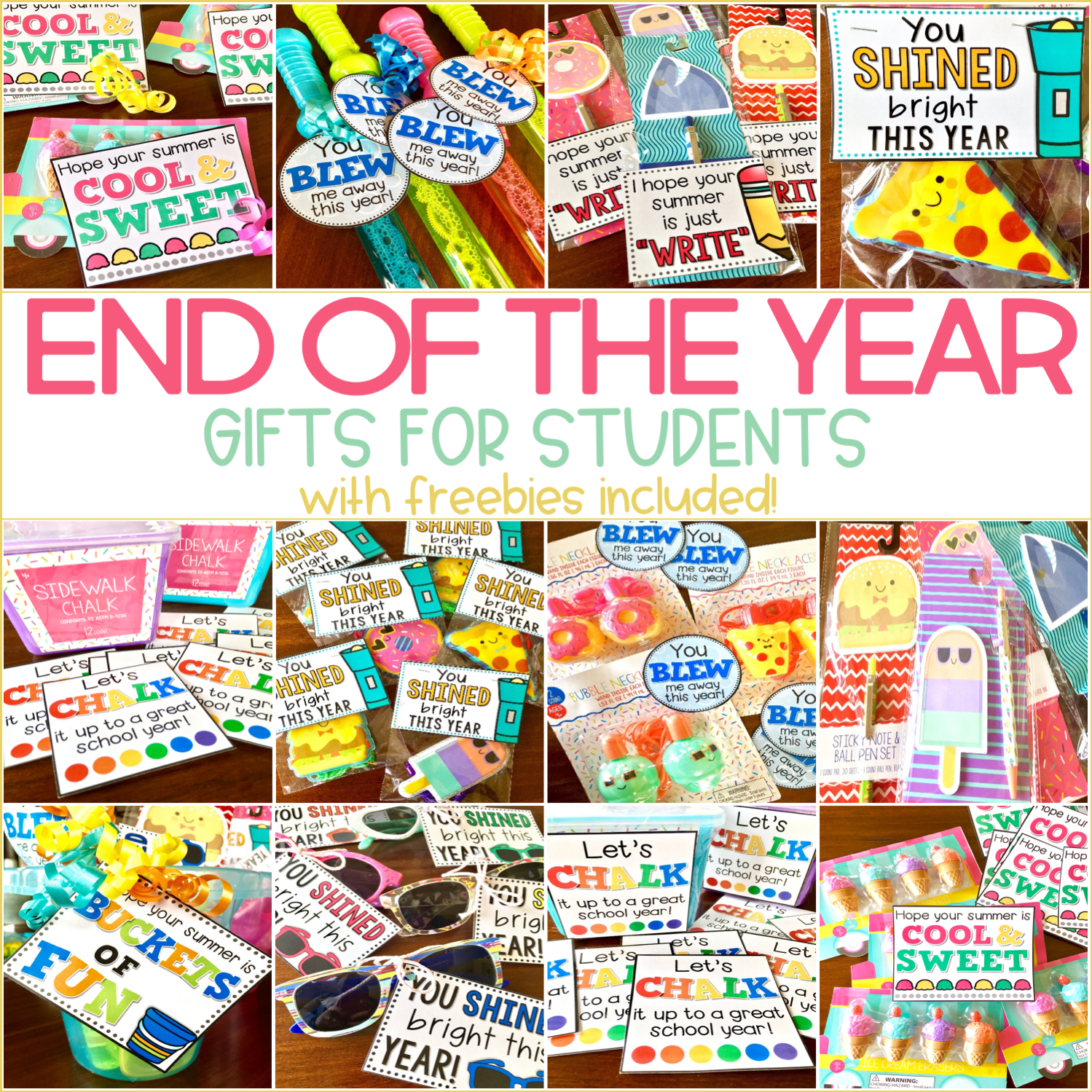 Easy End of the Year Gifts for Students {FREE Gift Tags}