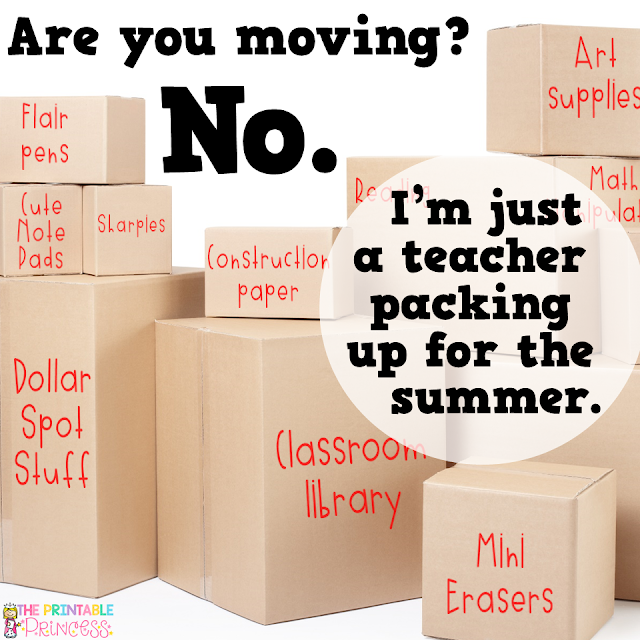 From one teacher to another, helpful tips to get you ready for summer! The end of the school year can be stressful. There is so much to do and so little time. But with a little planning you can easily get your classroom ready for summer with little to NO stress. Here are 12 easy and practical tips for packing up your classroom.