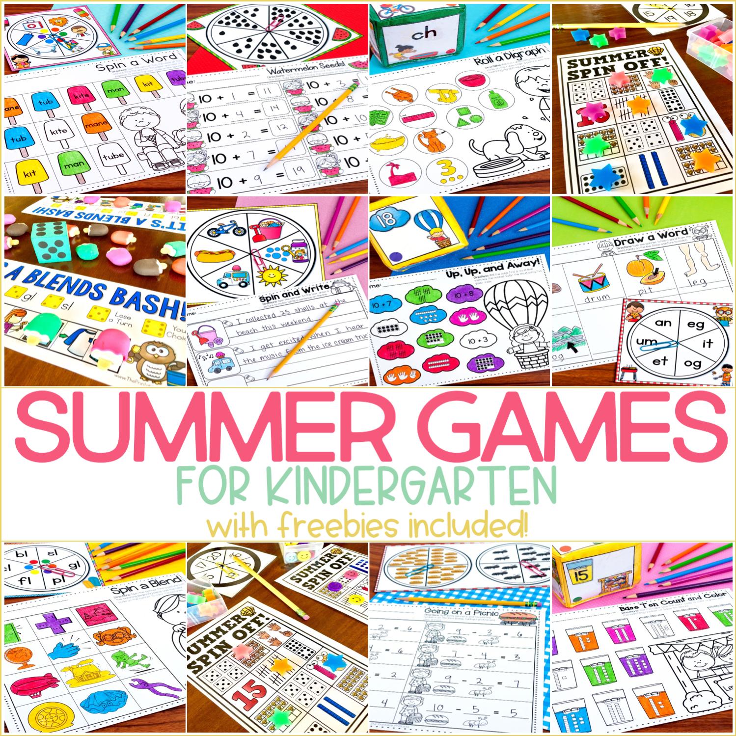 Summer Games and Activities for Kindergarten