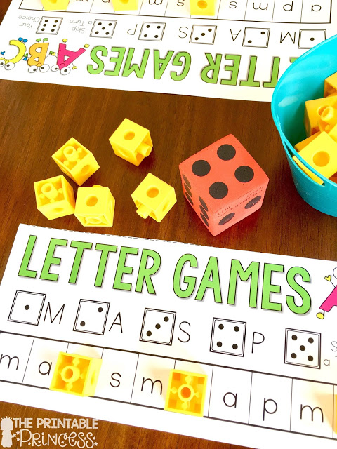 Letter recognition is an important component in PreK and Kindergarten classrooms. Stop by and pick up a FREE letter assessment tool. Plus you'll also find in this post loads of ideas for alphabet practice. Easy and practical activities to help teach your Kindergarten students letter recognition. You'll find low prep activities, games, pocket chart activities, printables, and more.