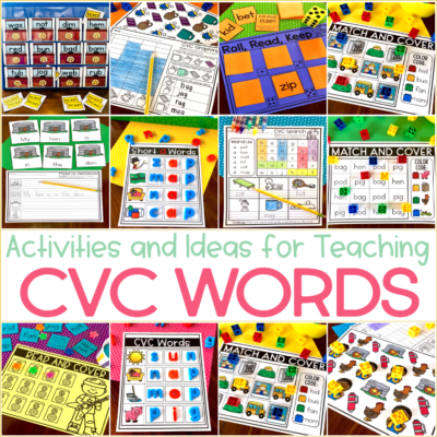 CVC Activities for Kindergarten {with an Exclusive Freebie}