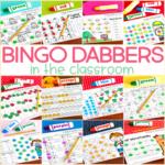 Using Bingo Dabbers in the Classroom {with a FREEBIE}