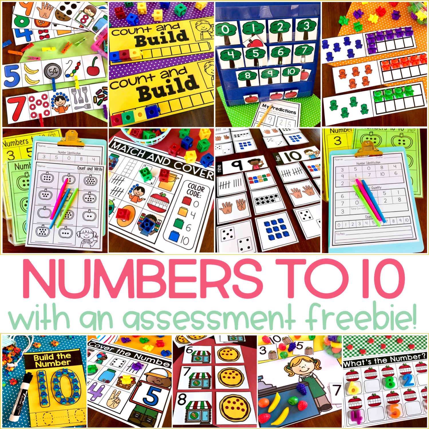 Numbers to 10 Activities for Little Learners
