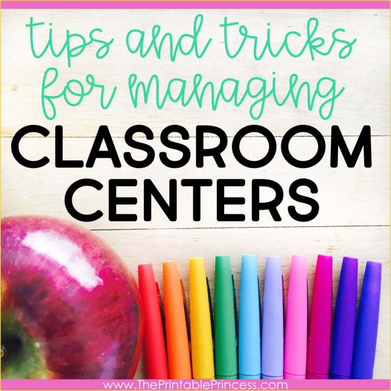 10 Tips for Managing Classroom Centers