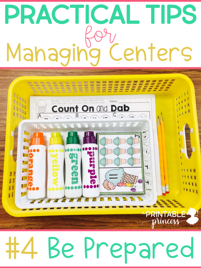 "Literacy and math centers are at the core of every PreK, Kindergarten, First Grade classroom. There's tons of different ways to ""do"" centers. But there's a few basics or foundations that are important to consider when planning and implementing centers. Today I wanted to share with you my top 10 tips for managing classroom centers."