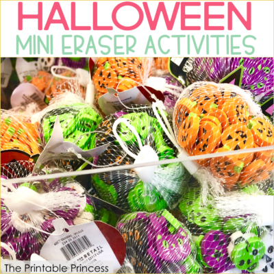 Halloween Mini Eraser Activities