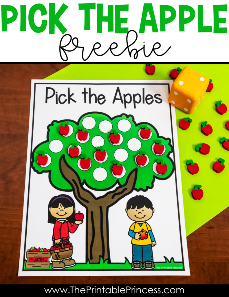 Here's an apple math game freebie that is perfect for apple week, or anytime during the fall months in PreK and Kindergarten. It's a fun, interactive game that will help students to practice counting and one-to-one correspondence. Plus prepping couldn't be easier! Click through to read the math game directions and download your FREE copy!