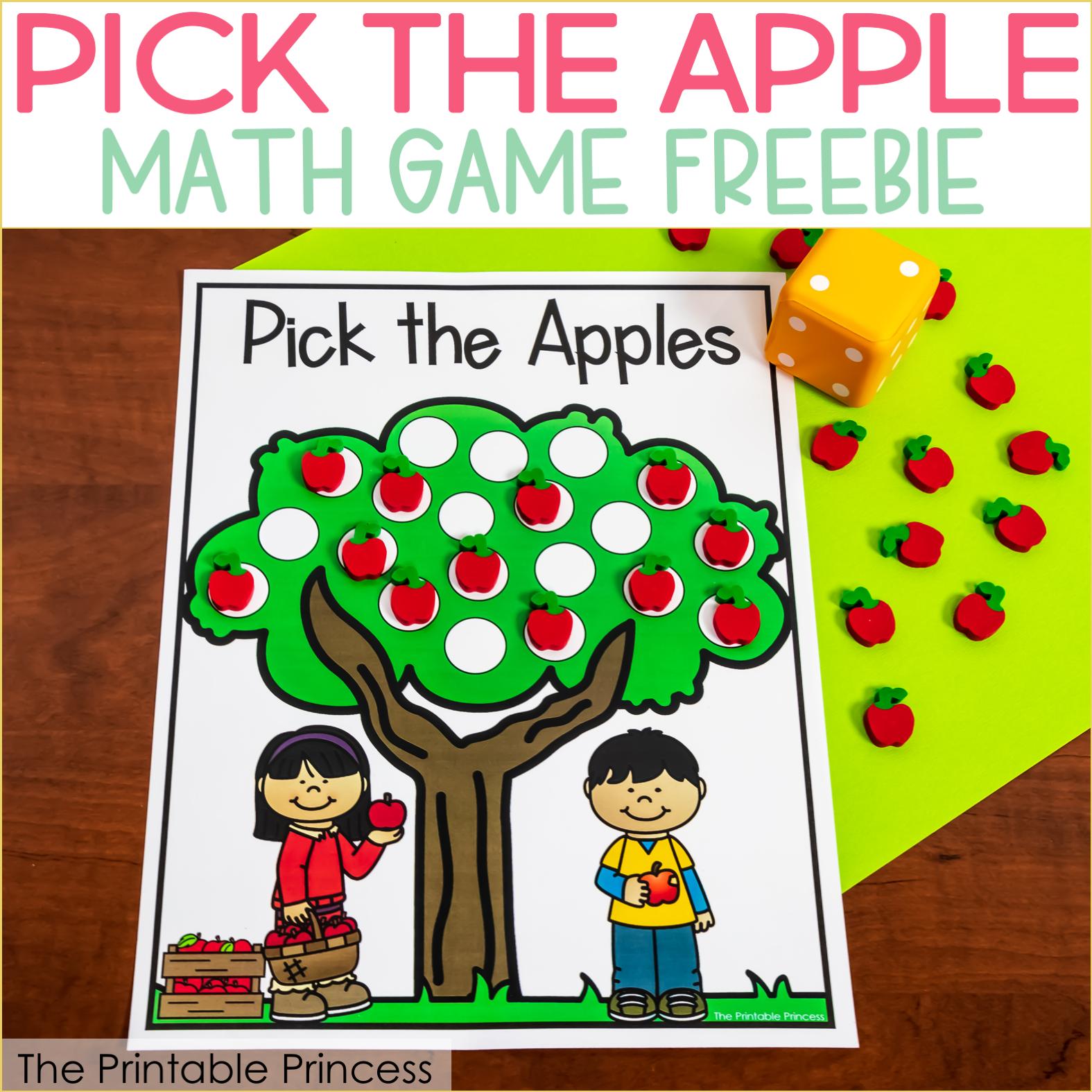 Apple Math Game Freebie