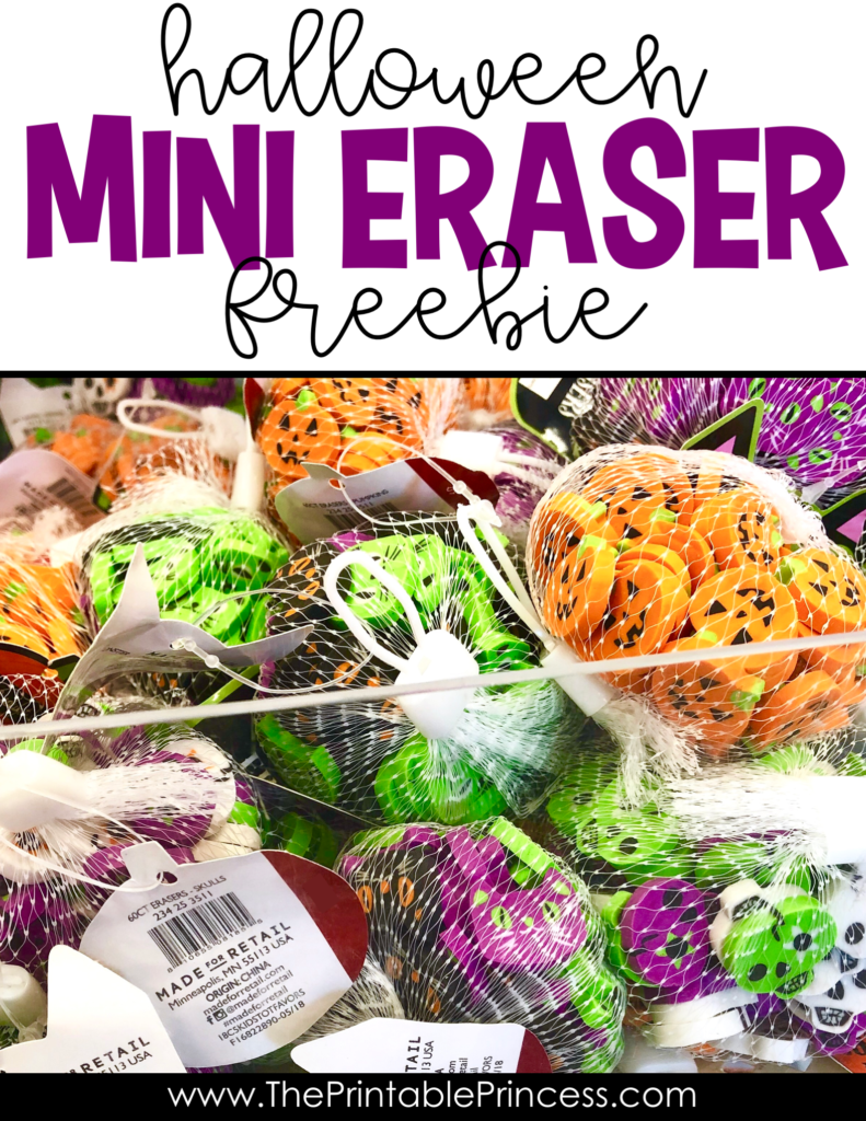 Students love mini erasers almost as much as their teachers. Here are three FREE easy to prep and engaging Halloween mini eraser activities that you can easily implement to keep Kindergarteners learning and engaged.