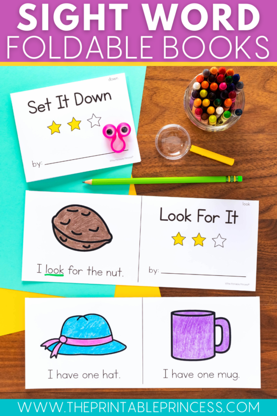 Foldable sight words books