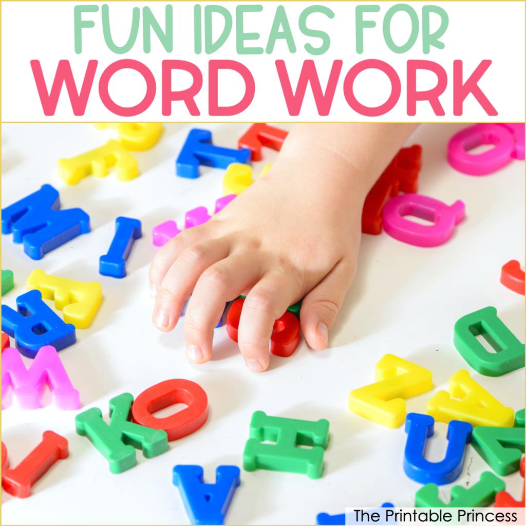 8 Activities to Make Word Work More Fun