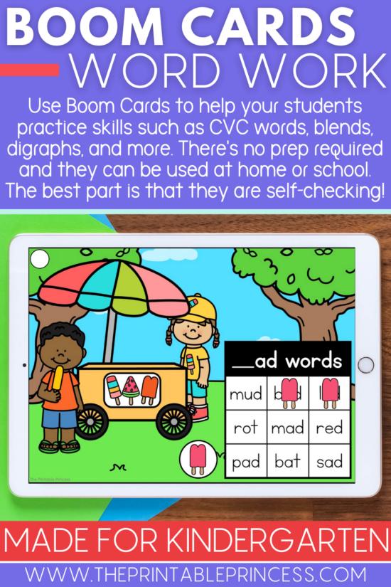CVC Word Family Boom Cards