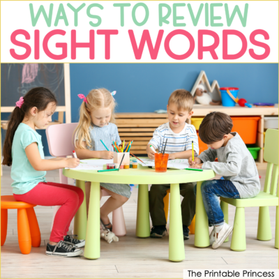 8 Ideas for Reviewing Sight Words