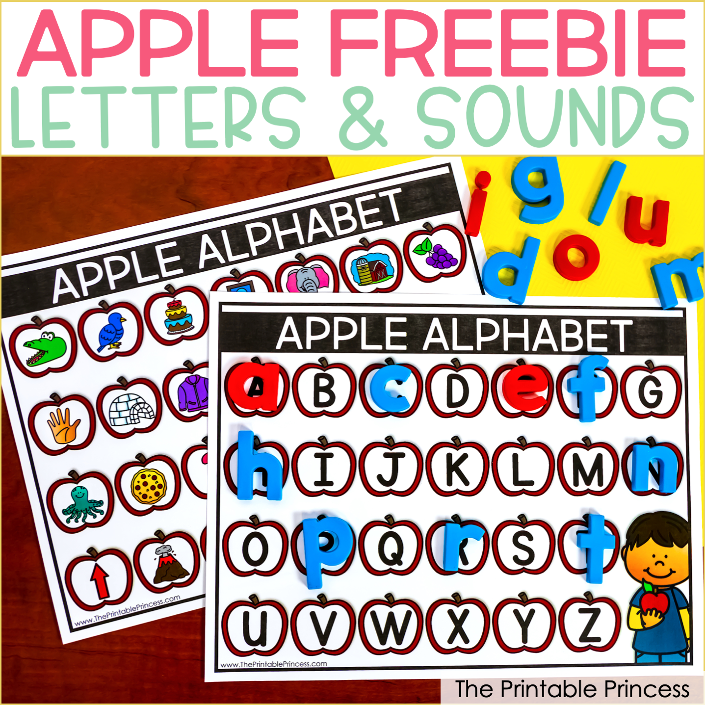 Free Apple Themed Printables to Teach Letters