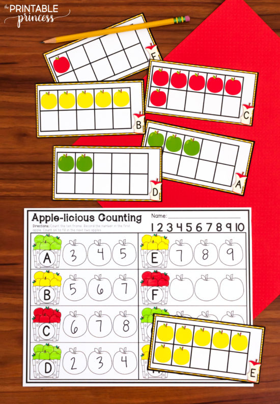 If your kindergarten class is covering an apple theme this fall, you'll want to check out these fun and FREE apple themed printables to teach letters and sounds. They are NO PREP and all you need are magnetic letters. You can also check out some ideas for apple themed literacy and math center for kindergarten. Whether you're teaching letter recognition, beginning sounds, numbers and counting, ten frames, sight words, or measurement - it's all there and MORE. Click through to check out the activities and download your free apple theme printables for kindergarten.