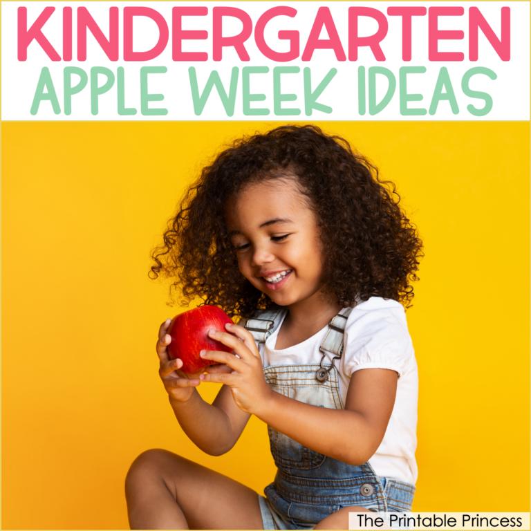Apple Week Activities for Kindergarten