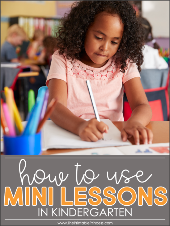 mini lessons in kindergarten