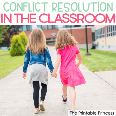 Dealing with classroom conflict on a daily basis can be time consuming and disruptive, taking the focus off of our most important objective: learning. And while it's not likely anyone's favorite, teaching conflict resolution in the classroom is an important part of our work. Here are five strategies you can use for handling conflict resolution in your Kindergarten, First Grade, or Second Grade classroom.