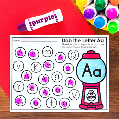Dab the letter freebie