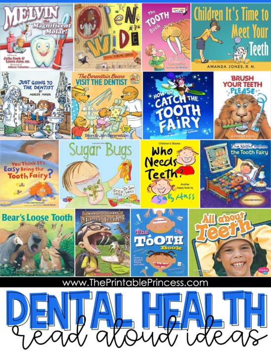 Check out this list of Dental Health read alouds. You'll find tons of great fiction and nonfiction options for your PreK, Kindergarten, or First Grade classroom. Be sure to download the How to Brush Your Teeth sequencing freebie. The picture cards and no prep page make for an easy dental health lesson that your early primary students will LOVE!