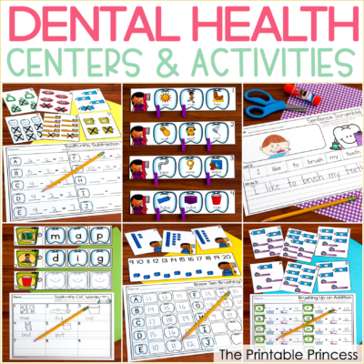 Are you looking for hands-on and engaging activities to bring the dental health into your Kindergarten classroom? Then you will love the Dental Health centers for Kindergarten shared in this blog post. There's math and literacy included and they were designed with Kindergarten skills in mind. Also included in this blog post is a bonus center freebie to help your students learn how to keep their teeth healthy and strong. It's perfect for Dental Health month in Kindergarten. Click through to download your copy!