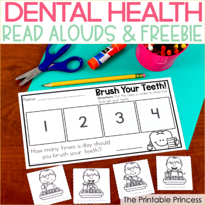 Dental Health Read Alouds and Freebie