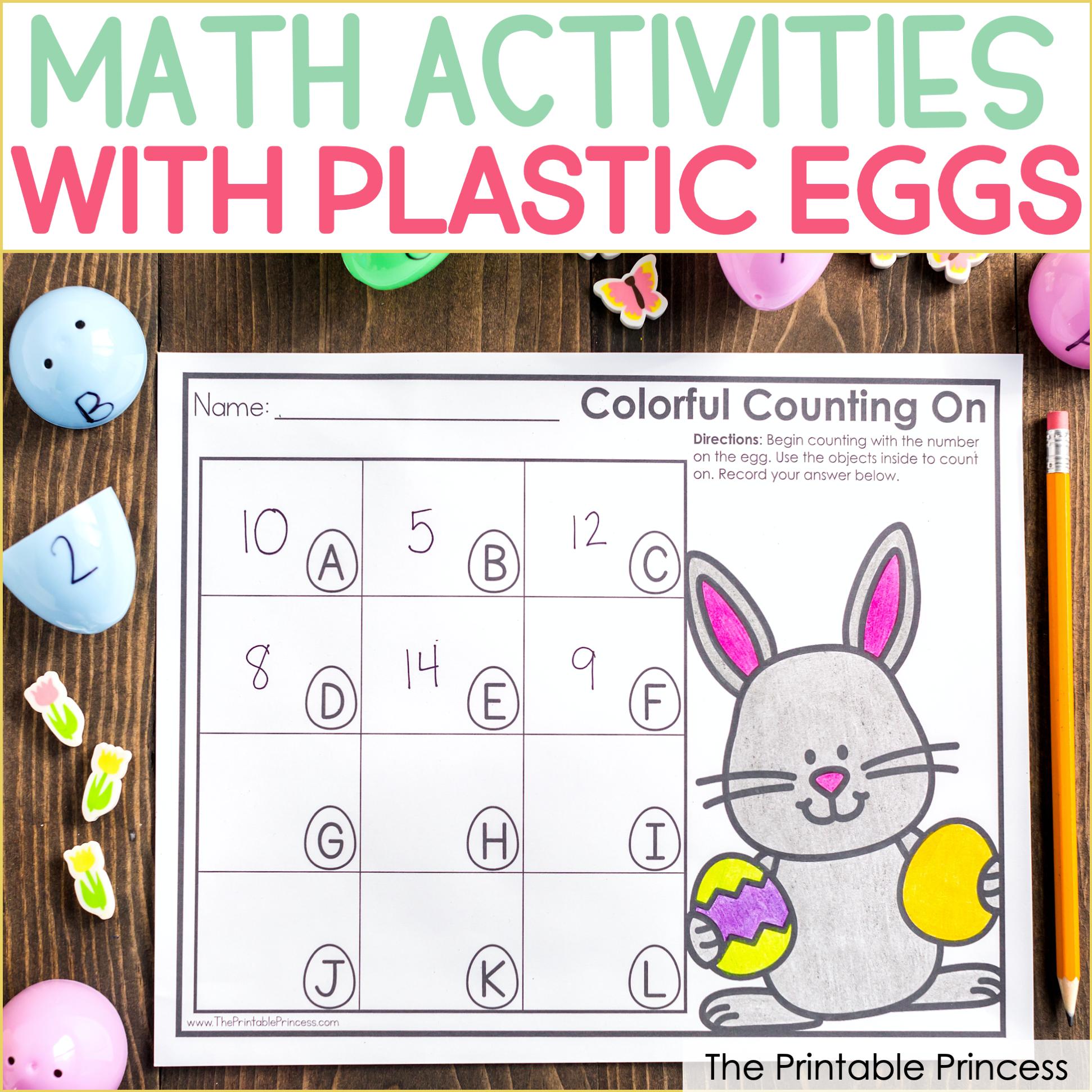 Easter Egg Math Activities for Kindergarten {Freebies Included!}