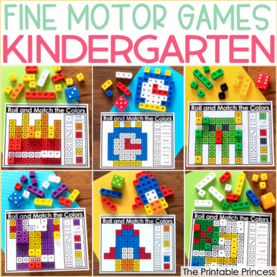 Fine Motor Games for Kindergarten {Plus a FREEBIE!}
